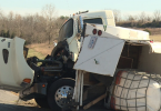 One horse is hurt and a driver was sent to the hospital after a horse trailer overturned in a traffic accident